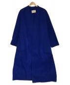 UNITED ARROWS TOKYO(ユナイティッドアローズトウキョウ)の古着「Double Face Belted Coat」|ブルー