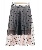 BALENCIAGA(バレンシアガ)の古着「チュールジャガードスカート」|ピンク