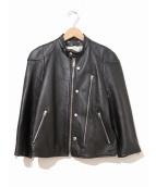 GOLDEN GOOSE(ゴールデングース)の古着「シングルレザーライダースジャケット」|ブラック