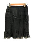 CHANEL(シャネル)の古着「シルクスカート」|ブラック