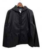 NIKE×BLACK COMME des GARCONS(ナイキ×ブラック コムデギャルソン)の古着「ナイロンロゴフーディ」|ブラック