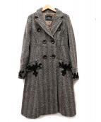 GRACE CONTINENTAL(グレースコンチネンタル)の古着「装飾デザインヘリンボーンツイードコート」