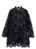 NARA CAMICIE(ナラカミーチェ)の古着「レースシャツ」 ブラック