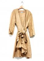 NARA CAMICIE(ナラカミーチェ)の古着「リネンガウンコート」 ベージュ