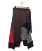 AKANE UTSUNOMIYA(アカネウツノミヤ)の古着「ラップスカート」 ブラウン