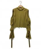 IRENE(アイレネ)の古着「リブコールドショルダーニット」 イエロー