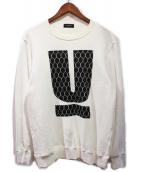 UNDERCOVER(アンダーカバー)の古着「ロゴスウェット」|ホワイト