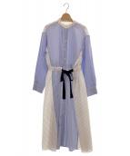 LE CIEL BLEU(ルシェルブルー)の古着「マルチストライプワンピース」