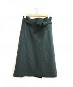 BACCA(バッカ)の古着「リボンベルトスカート」|グリーン