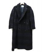 ZUCCA(ズッカ)の古着「ループチェックコート」|ネイビー