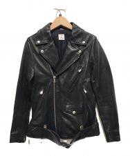 6(ROKU) BEAUTY&YOUTH (ロク ビューティーアンドユース) レザーライダースジャケット ブラック サイズ:34