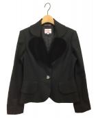 V.W. RED LABEL(ヴィヴィアンウエストウッドレッドレーベル)の古着「ラブジャケット」|ブラック