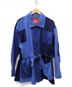 Vivienne Westwood RED LABEL(ヴィヴィアンウエストウッドレッドレーベル)の古着「トリプルドッキングジャケット」|ブルー
