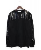 GIVENCHY(ジバンシィ)の古着「スウェットシャツキューバフィットエナメルパッチ」|ブラック