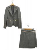 Salvatore Ferragamo(サルヴァトーレフェラガモ)の古着「スカートスーツ」|グレー