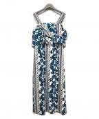 Viaggio Blu(ビアッジョブルー)の古着「フラワープリントワンピース」 ホワイト
