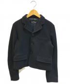 tricot COMME des GARCONS()の古着「ウールコンパクトジャケット」|ブラック