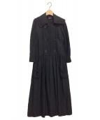tricot COMME des GARCONS(トリコ コムデギャルソン)の古着「長袖ワンピース」 ブラック