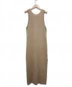 TODAYFUL(トゥデイフル)の古着「Knit Apron Dress」 ベージュ