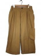 VOAAOV(ヴォアーブ)の古着「コットン100%強撚ツイルパンツ」|ベージュ