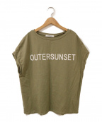 outersunset(アウターサンセット)の古着「ロゴカットソー」 カーキ