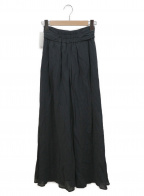 PINK HOUSE(ピンクハウス)の古着「小花刺繍ローンスカート」|ブラック