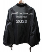 COMME des GARCONS HOMME PLUS(コムデギャルソンオムプリュス)の古着「20SS A-LINE COACH JACKET」|ブラック