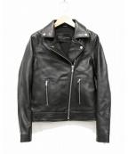 TARA JARMON(タラジャーモン)の古着「ラムレザーライダースジャケット」|ブラック
