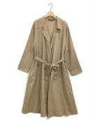 mizuiro-ind(ミズイロインド)の古着「リネン混トレンチコート」|キャメル