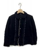 tricot COMME des GARCONS(トリコ コムデギャルソン)の古着「フロントレースカーディガン」 ブラック