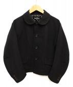 tricot COMME des GARCONS(トリコ コムデギャルソン)の古着「丸襟ウールジャケット」 ブラック