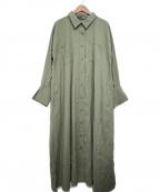 Emma Taylor(エマテイラー)の古着「MILITARY LONG SHIRT DRESS」|オリーブ