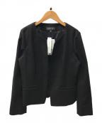 INDIVI(インディビ)の古着「ツィーディージャージジャケット」 ブラック