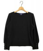 M'S GRACY(エムズグレイシー)の古着「フラワーモチーフカットソー」|ブラック