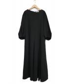 ADORE(アドーア)の古着「オックスデニムロングワンピース」|ブラック