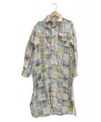 KAPITAL(キャピタル)の古着「パッチワークシャツワンピース」|イエロー