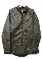 ()の古着「デタッチャブル中綿ジャケット」 オリーブ