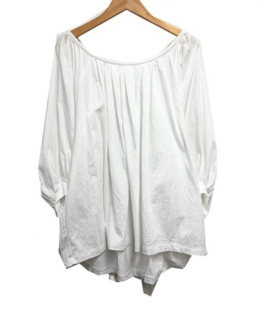 GRACE CLASS(グレースクラス)GRACE CLASS (グレースクラス) ドレープパススリーブカットソー ホワイト サイズ:36の古着・服飾アイテム