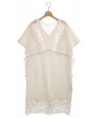 ()の古着「モール刺繍チュニックワンピース」 ホワイト
