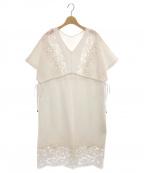 GRACE CONTINENTAL(グレースコンチネンタル)の古着「モール刺繍チュニックワンピース」 ホワイト