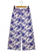 GRACE CONTINENTAL(グレースコンチネンタル)の古着「ジョーゼット刺繍パンツ」