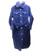 GRACE CLASS(グレースクラス)の古着「ファー襟インディゴコールシャツコート」