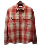 JOHN ELLIOTT(ジョンエリオット)の古着「キルティングチェックネルシャツジャケット」|レッド