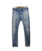 DIESEL(ディーゼル)の古着「ダメージ加工デニムパンツ」|インディゴ