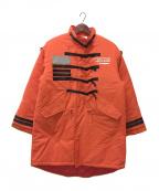 SWAGGER(スワッガー)の古着「中綿コート」|オレンジ