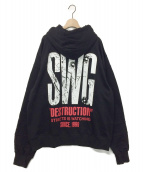 SWAGGER(スワッガー)の古着「BULLET PULLOVER HOODIE」|ブラック