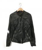 sisii(シシ)の古着「シングルライダースジャケット」|ブラック