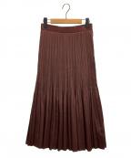 STUNNING LURE(スタニングルアー)の古着「サテンプリーツスカート」|ブラウン