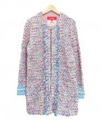 Coohem(コーヘン)の古着「ツイードコート」|ピンク