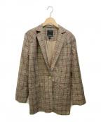 C/MEO COLLECTIVE(カメオコレクティブ)の古着「ベルテッドチェックジャケット」|ブラウン